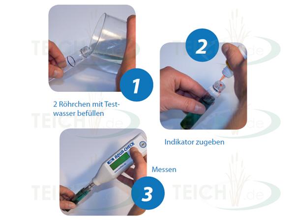 SÖLL AquaCheck Photometer Anwendung in 3 Schritten für genaue Messergebnisse
